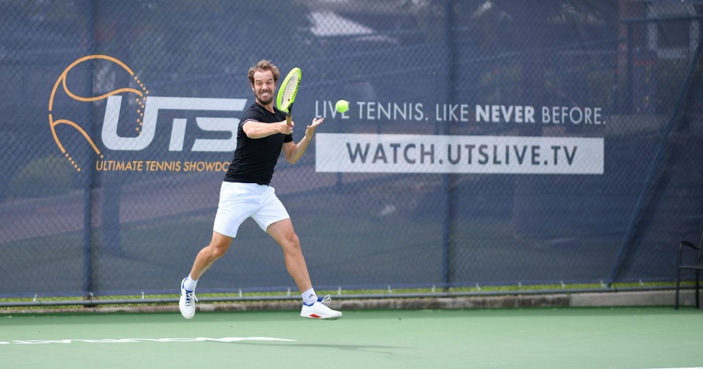 Richard Gasquet training at the Mouratoglou Academy