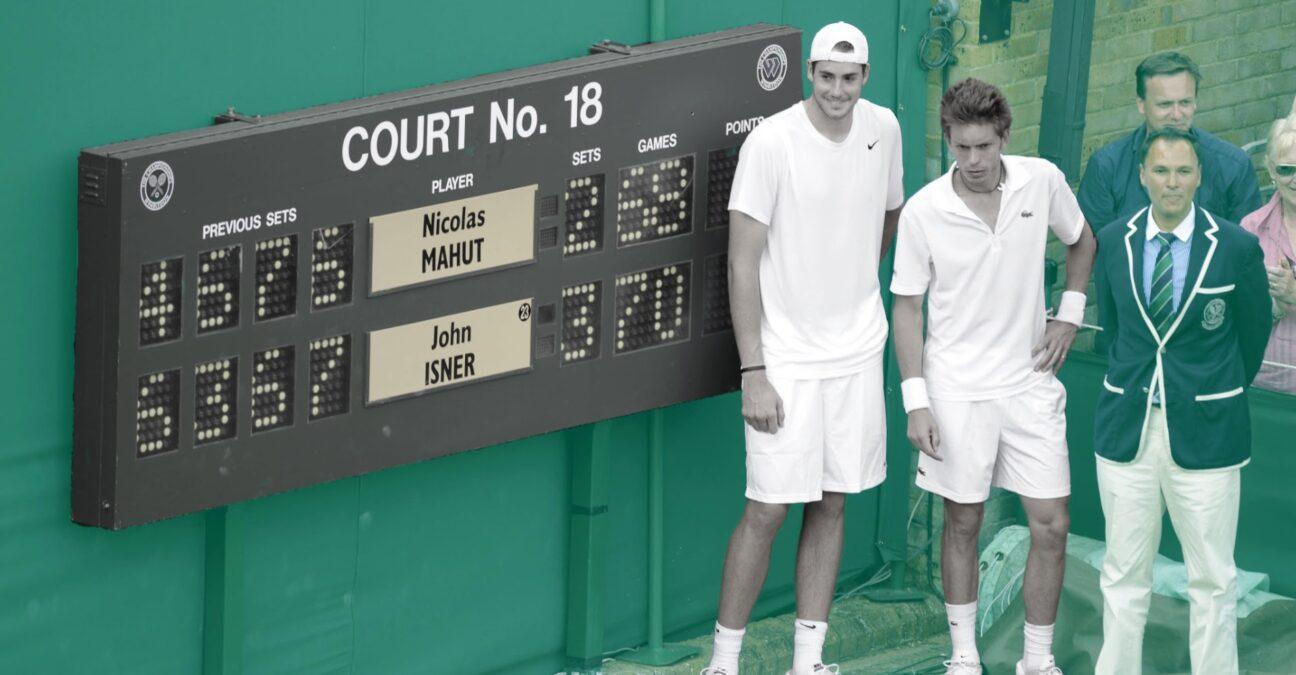 John isner and Nicolas Mahut, Wimbledon 2010