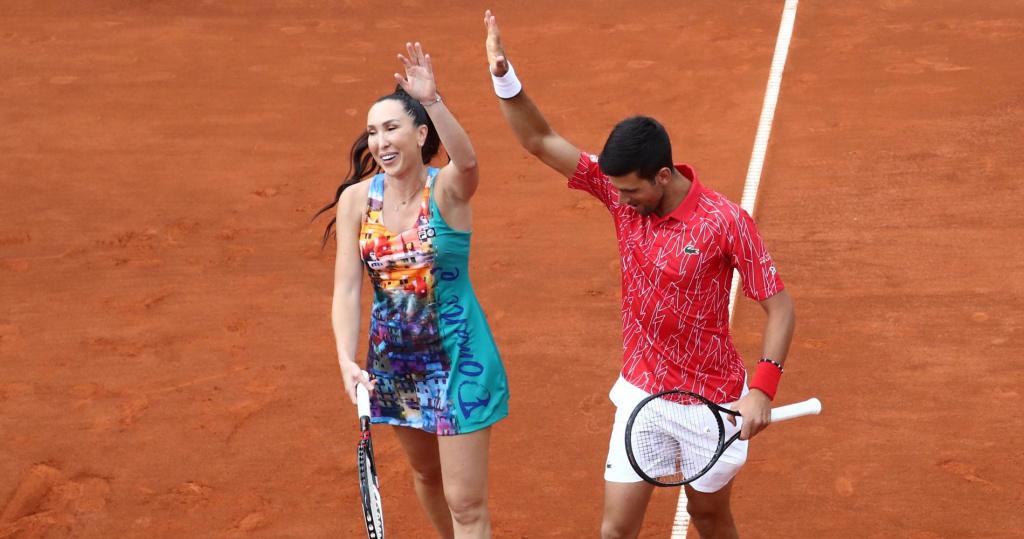 Jelena Jankovic and Novak Djokovic, 2020 Adria Tour