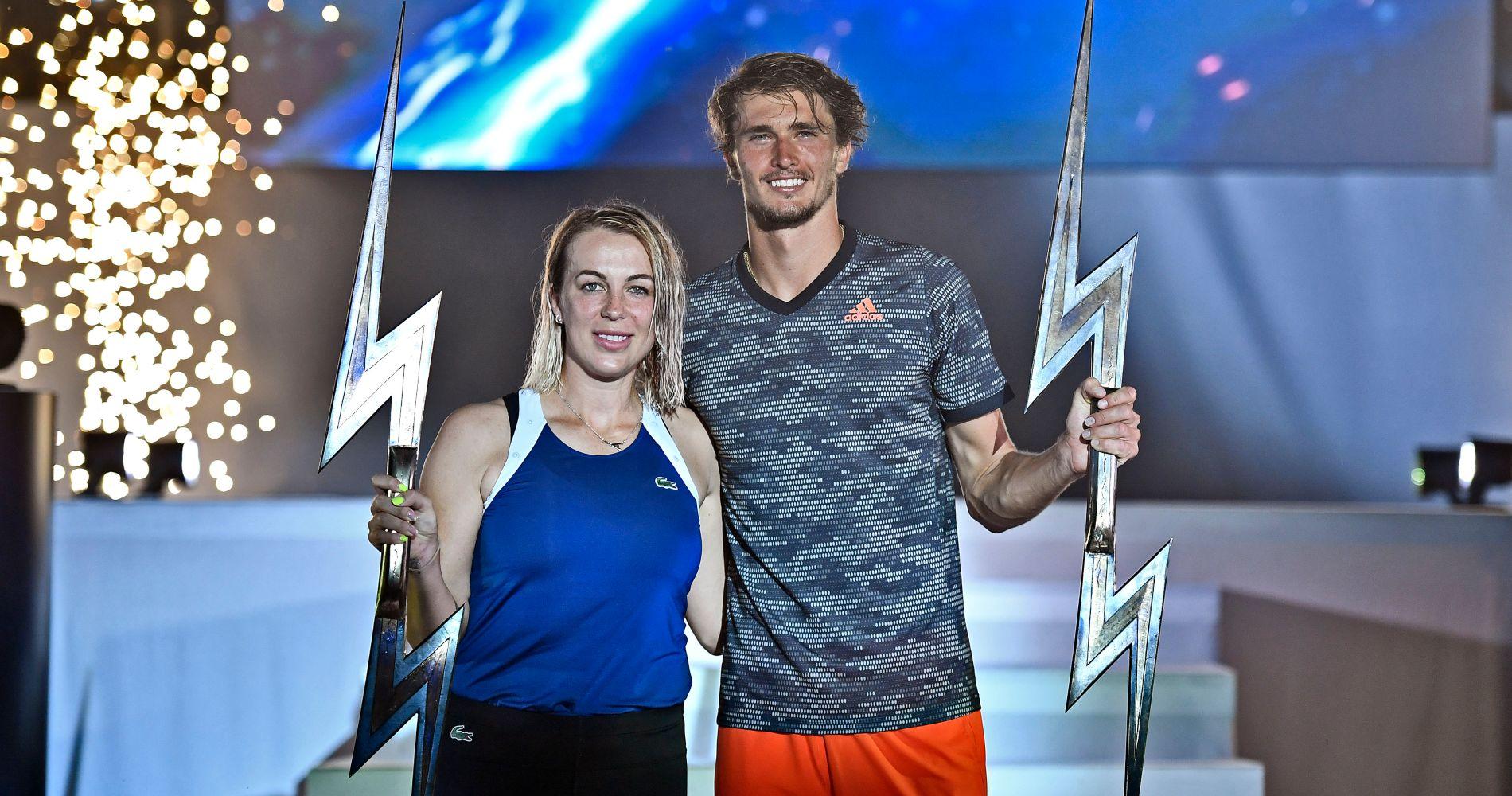 Les vainqueurs de l'UTS 2 : Anastasia Pavlyuchenkova et Alexander Zverev