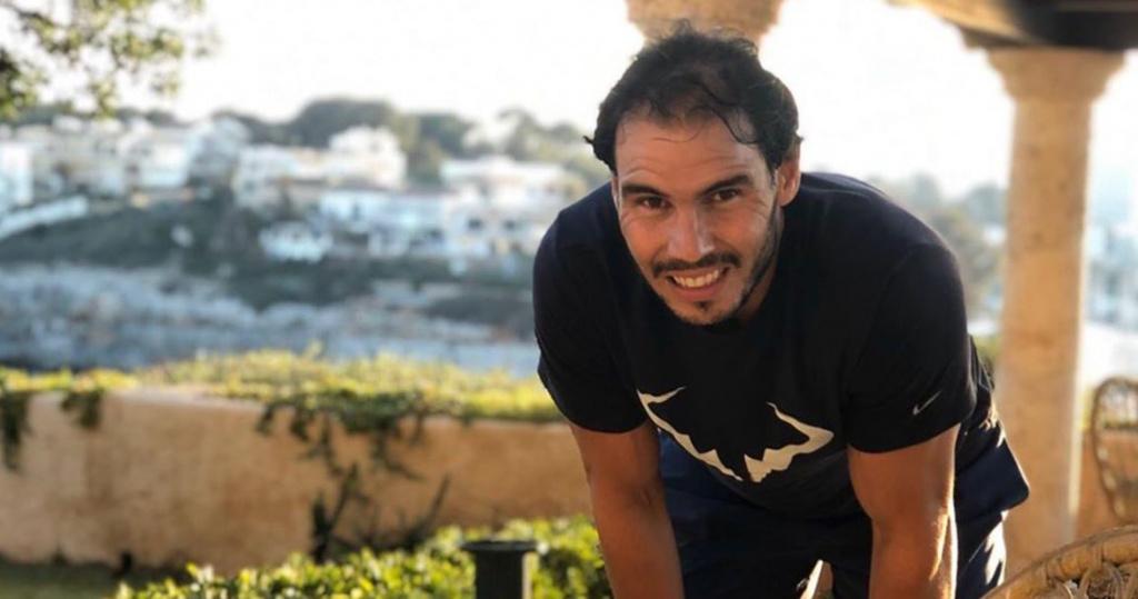 Rafael Nadal in confinement