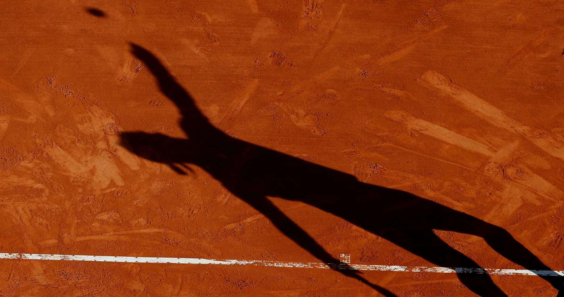 Rafael Nadal's shadow, Monte-Carlo, 2019