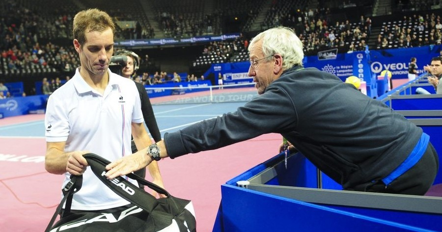 RICHARD GASQUET WITH HIS FATHER