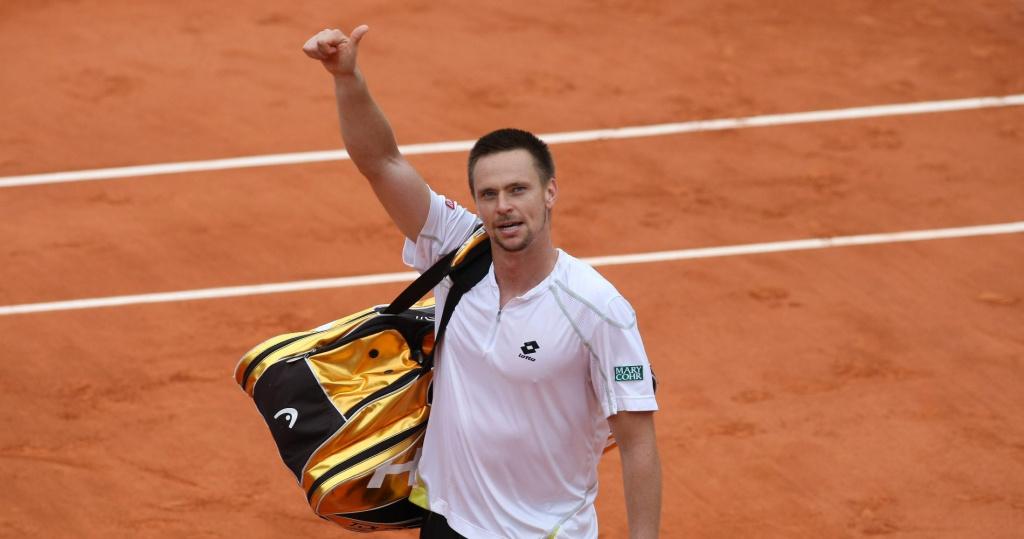 Robin Soderling after defeating Rafael Nadal