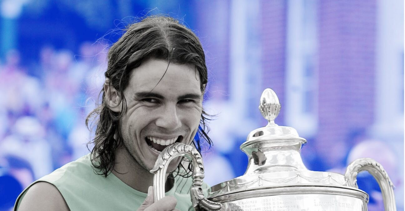 Rafael Nadal at the Queen's in 2008