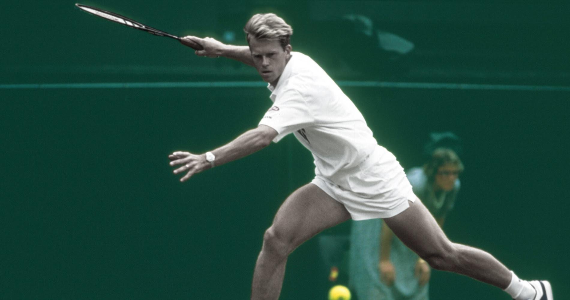 Stefan Edberg inflige un triple 6-0 à son compatriote Eriksson, lors du premier tour de Wimbledon 1987