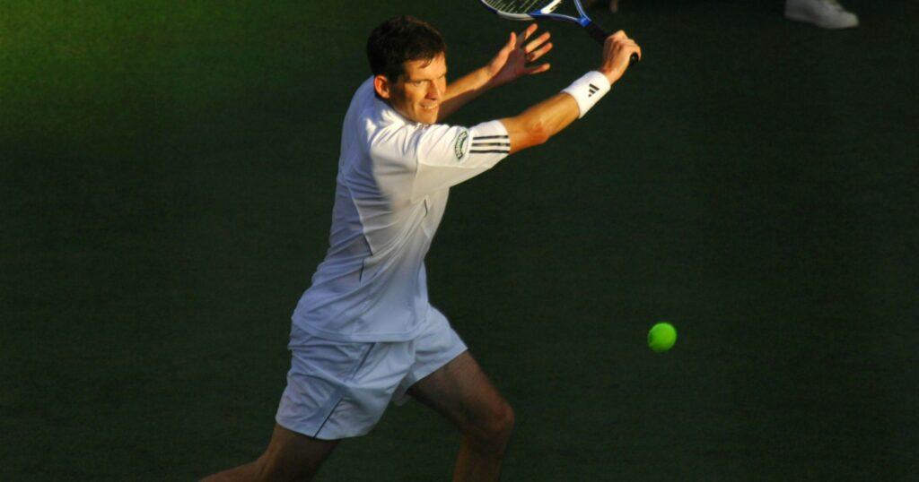 Tim Henman at Wimbledon in 2007