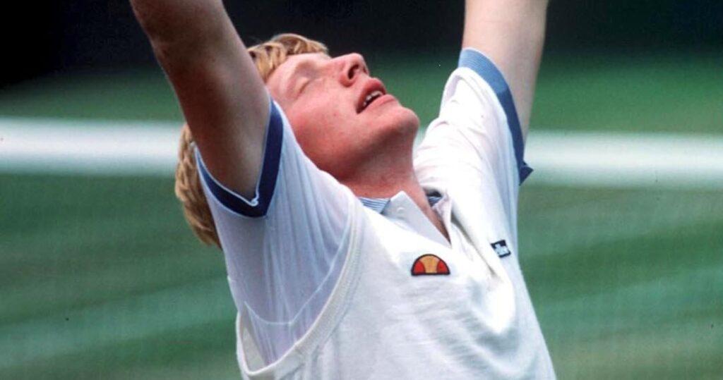 Boris Becker at Wimbledon