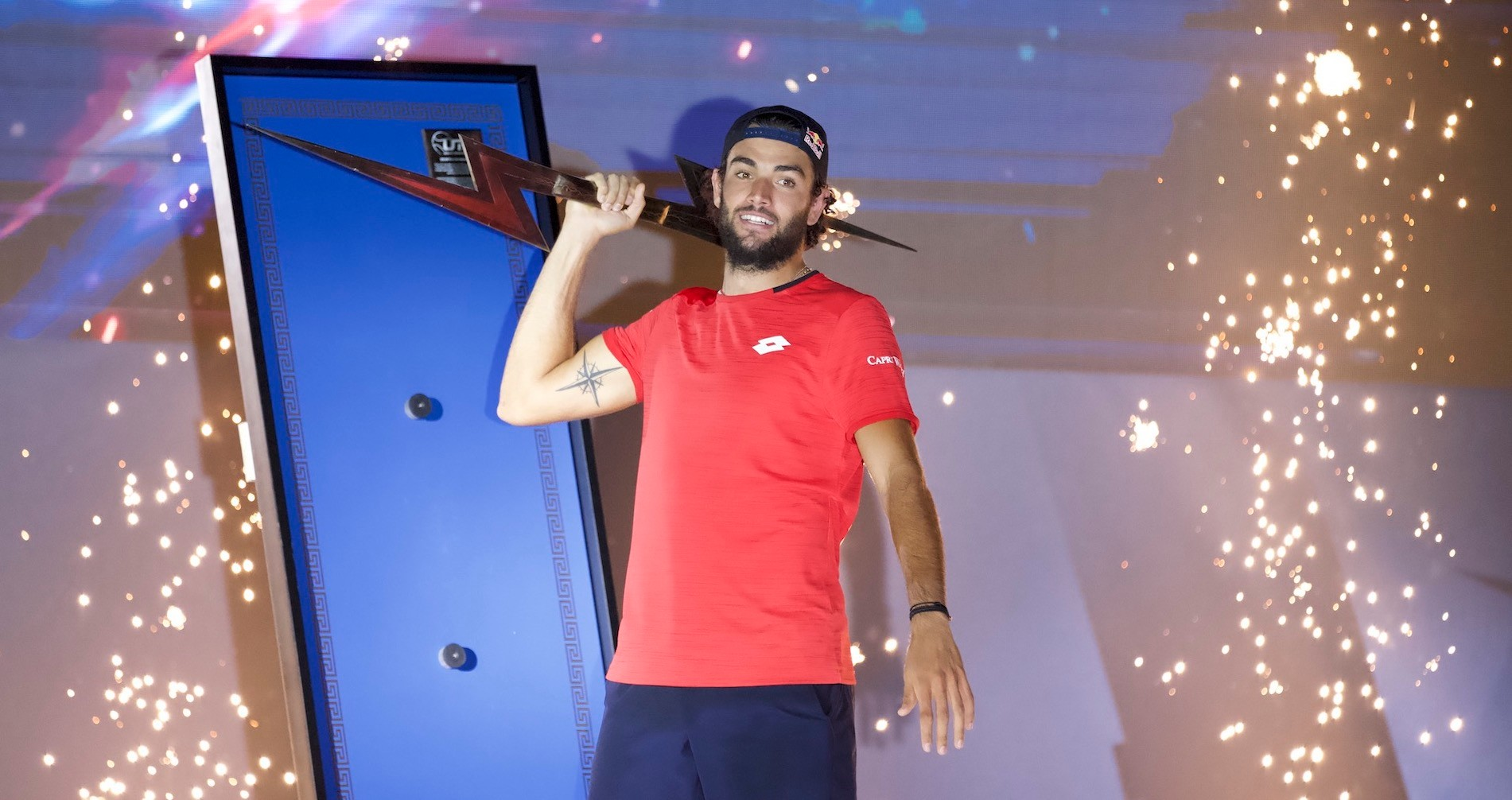 Matteo Berrettini, winner of Ultimate Tennis Showdown 2020
