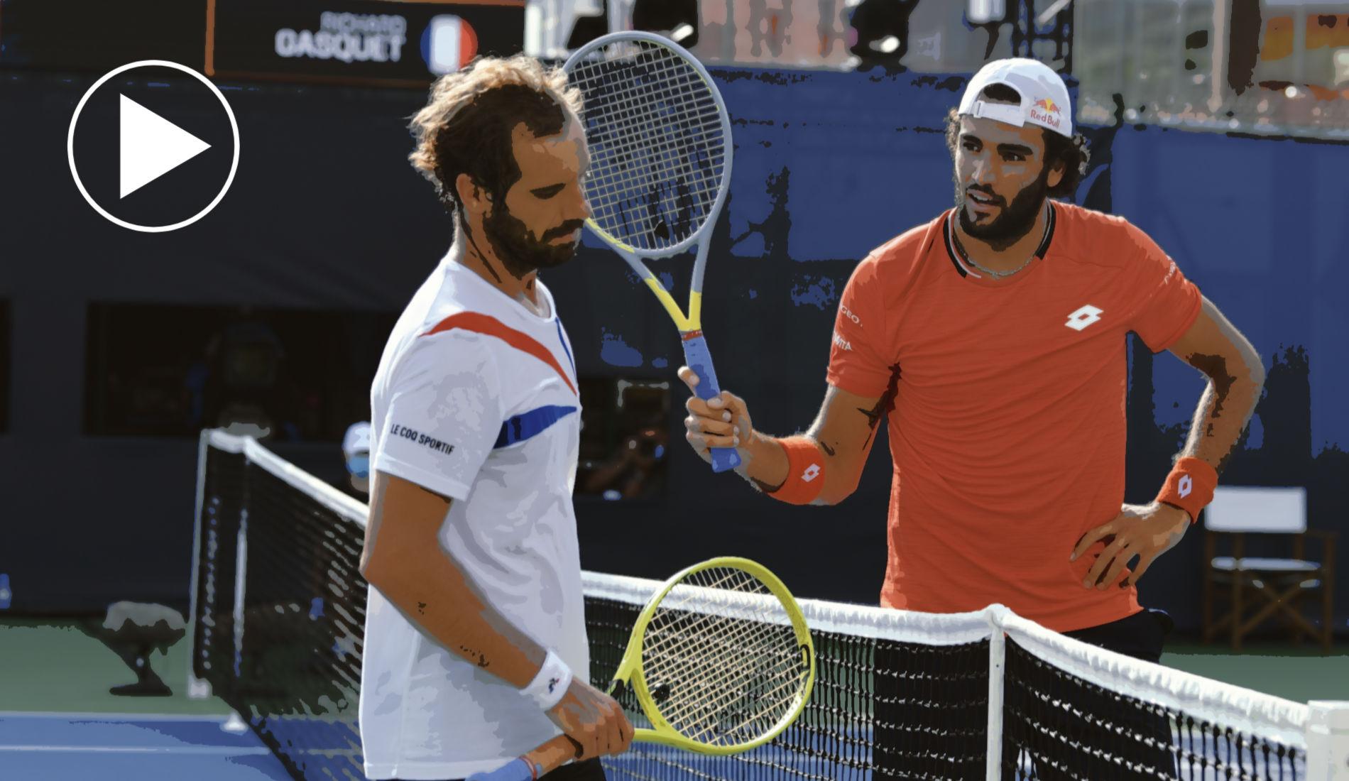 Gasquet vs Berrettini Highlights