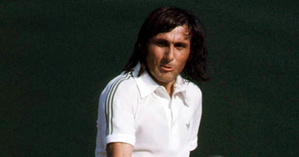 Ilie Nastase at Wimbledon in 1980