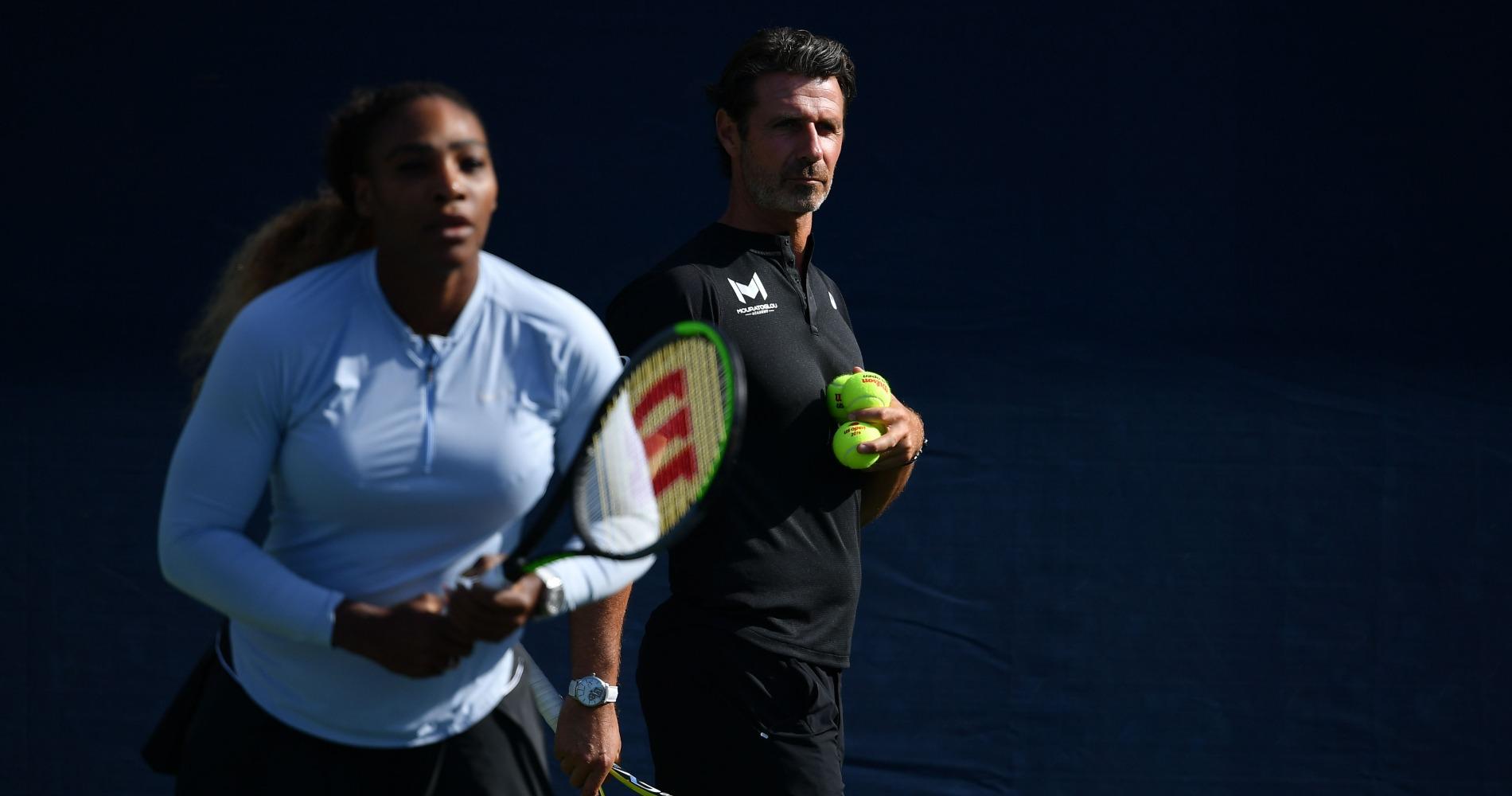 Patrick Mouratoglou and Serena Williams, 2019 US Open