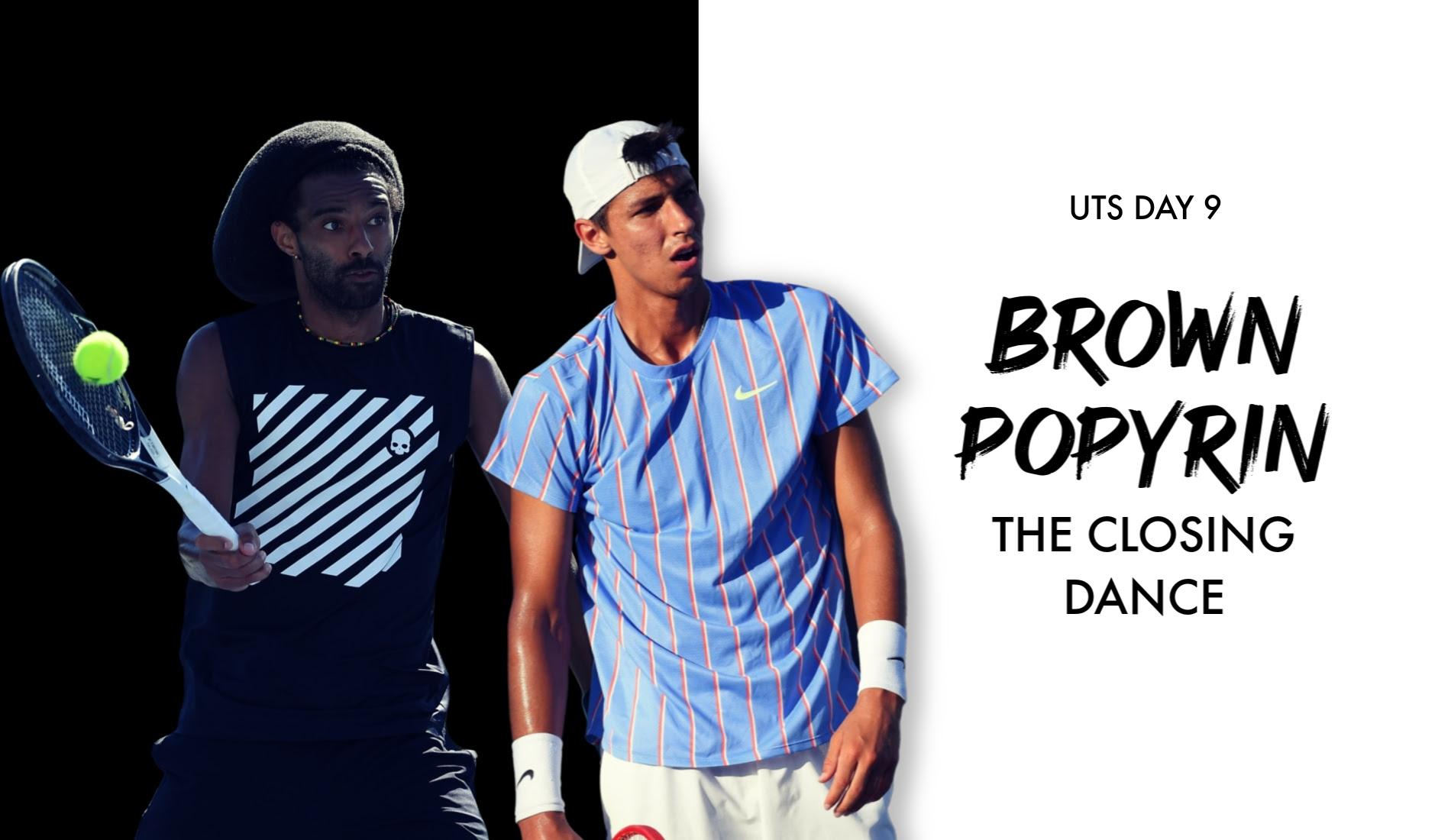 UTS Match Brown - Popyrin (title)