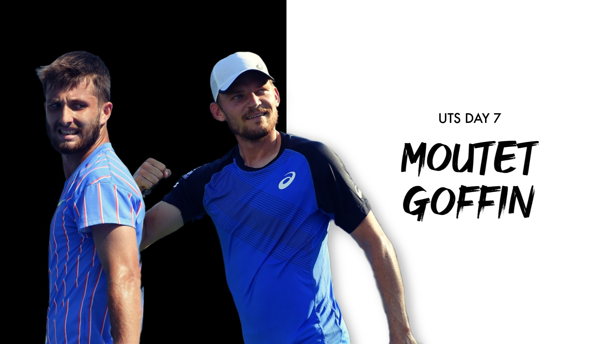 """UTS1 - Day 7: Corentin Moutet """"The Tornado"""" vs David Goffin """"The Wall"""""""