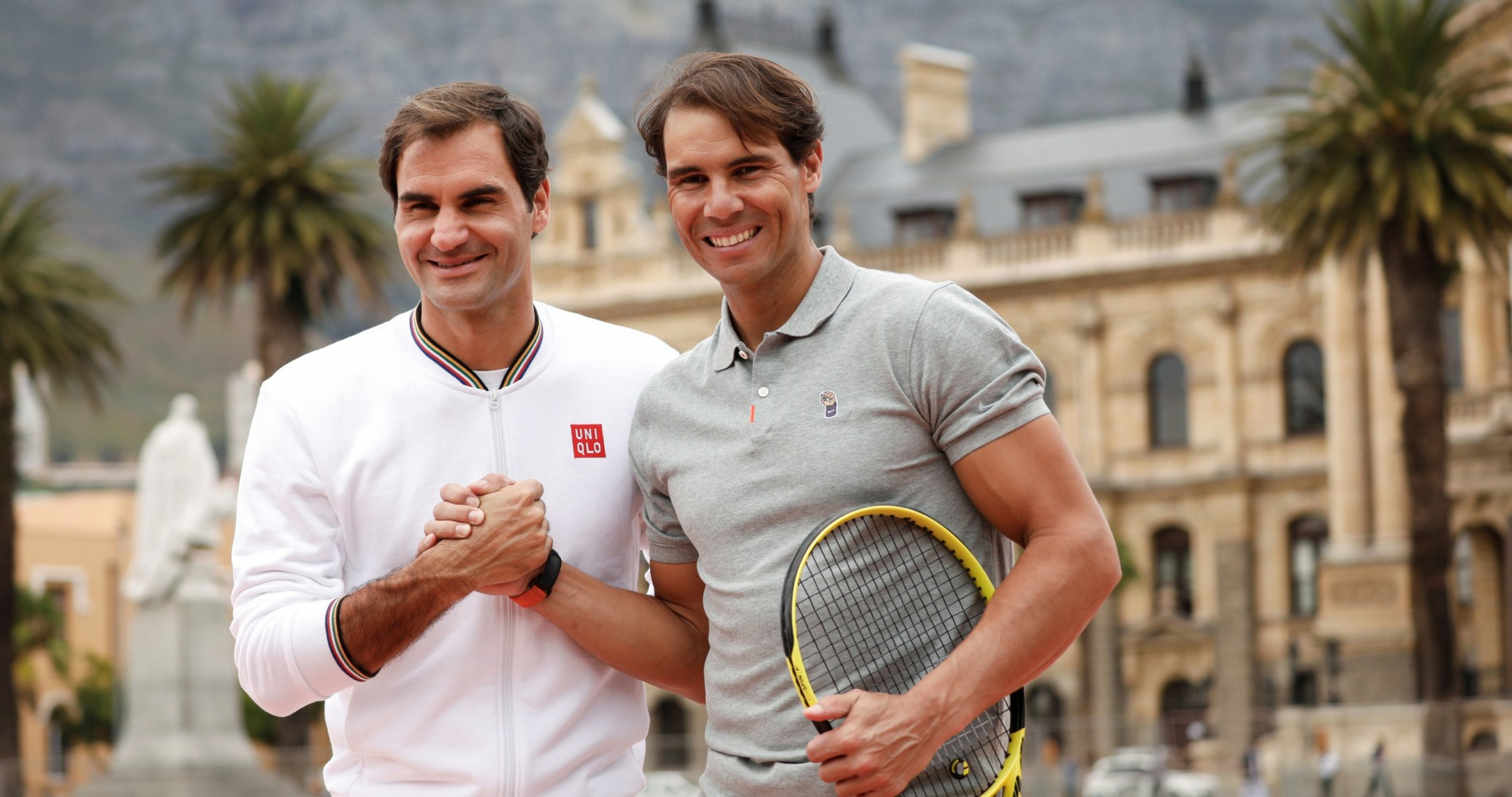 Roger Federer and Rafael Nadal in Cape Town, South Africa, February 2020, the Match in Africa