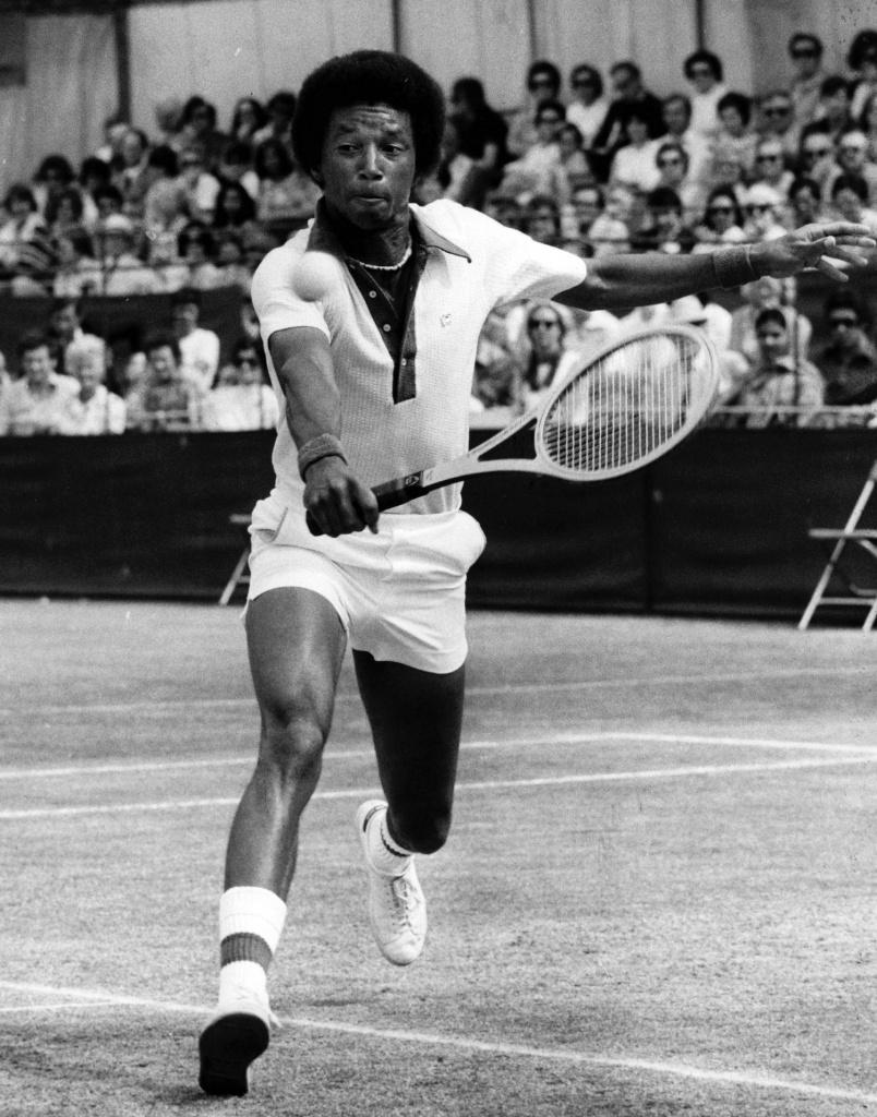Arthur Ashe in June 1975