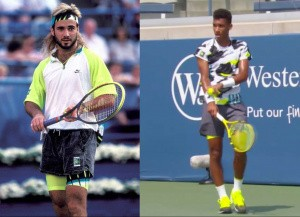 Andre Agassi 1990 and Félix Auger Aliassime 2020, Nike equipments