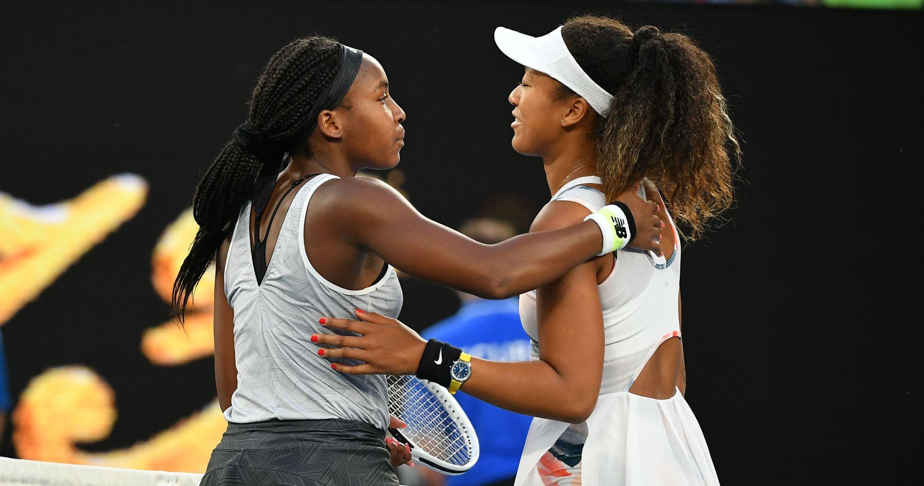 Coco Gauff and Naomi Osaka, Australian Open 2020