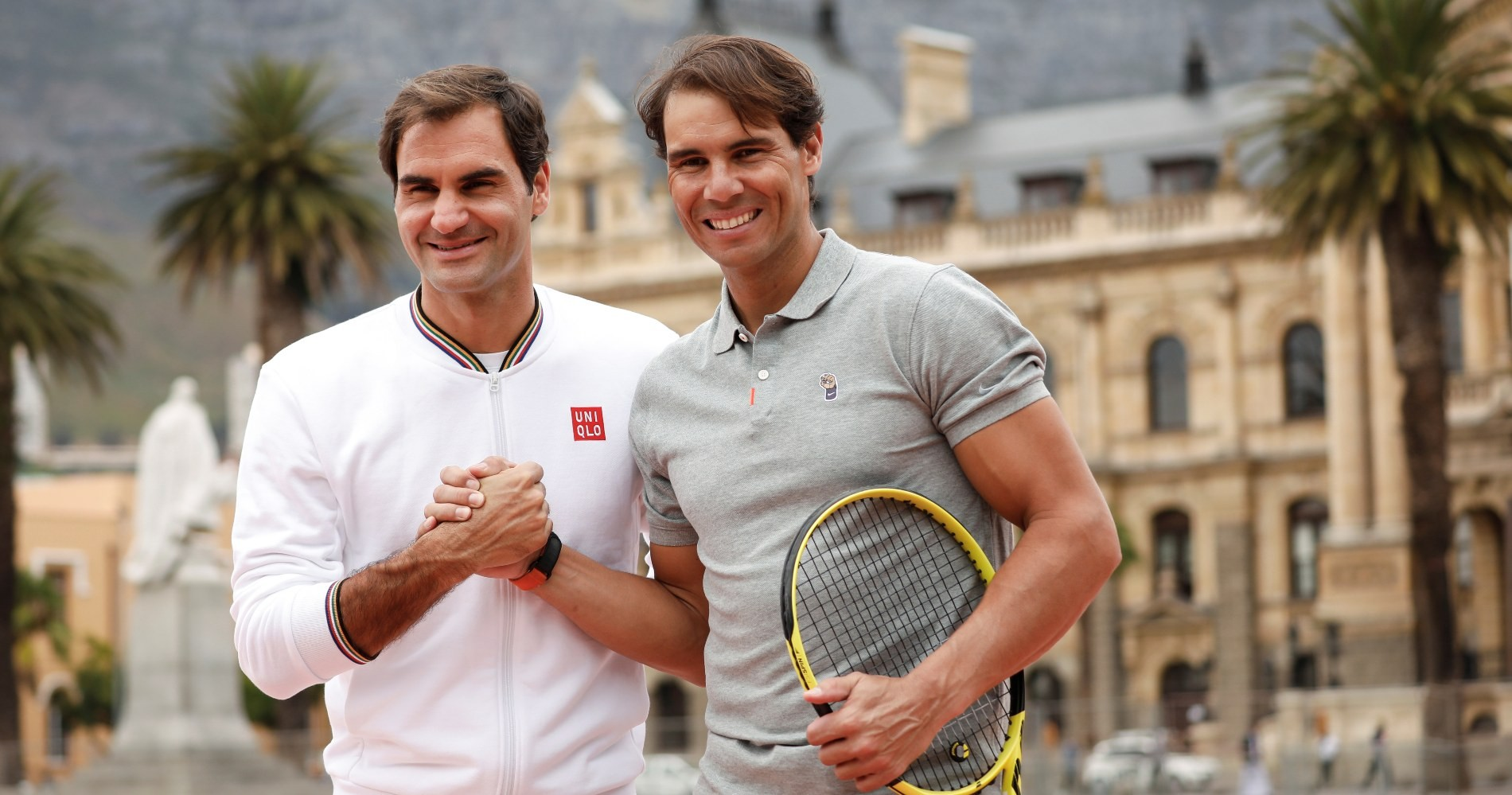 Federer and Nadal, Cap Town, February 2020