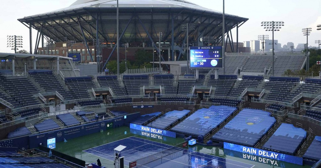 Rain at the Western & Southern Open (New York / Flushing Meadows), 2020