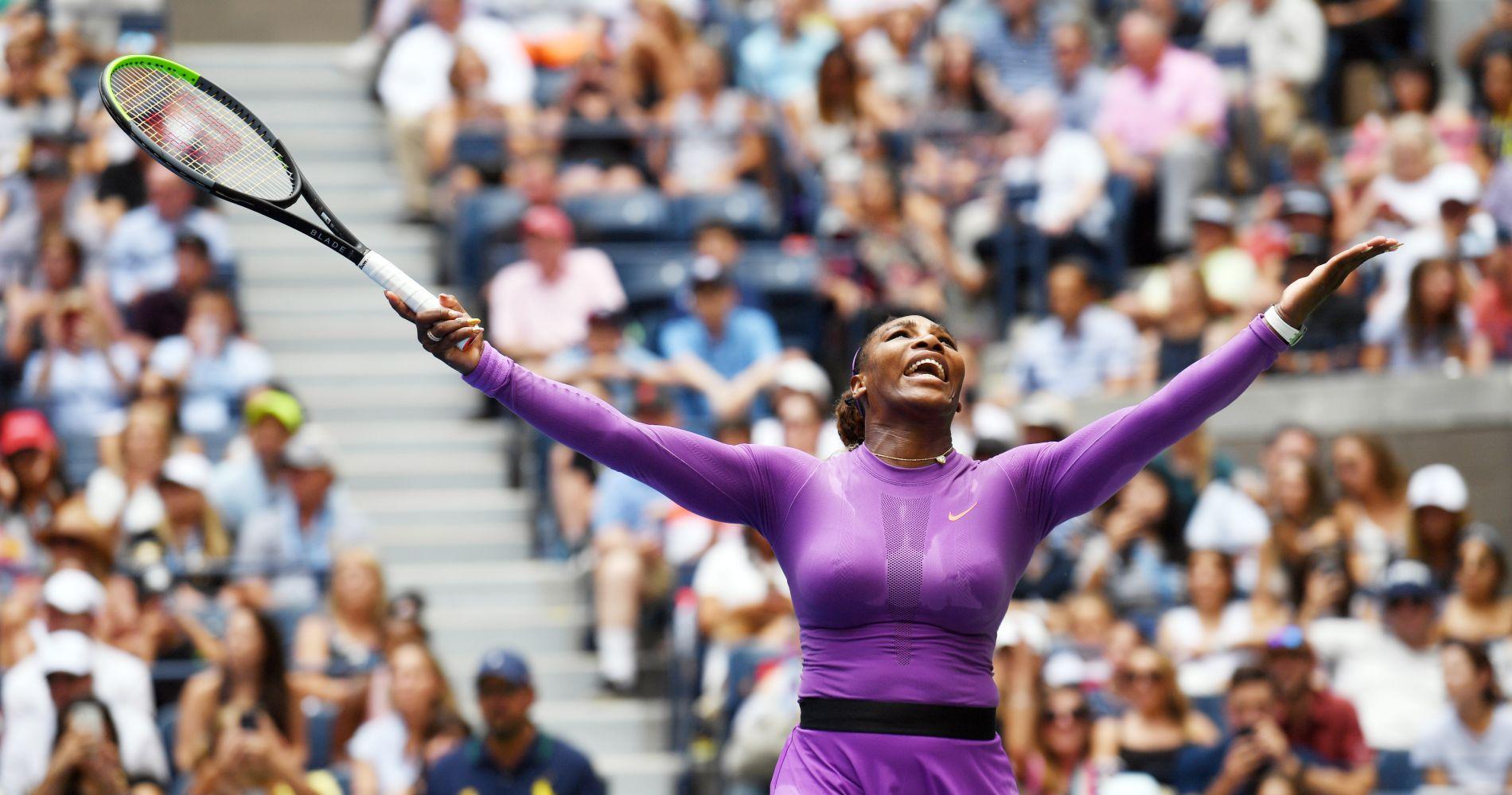 Serena Williams - Big crowd - US Open