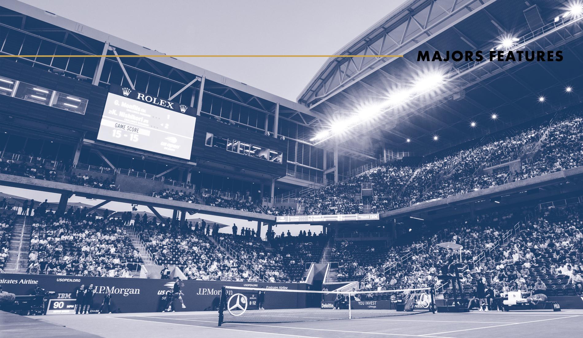 US Open : Features Tennis Majors Scoring Format
