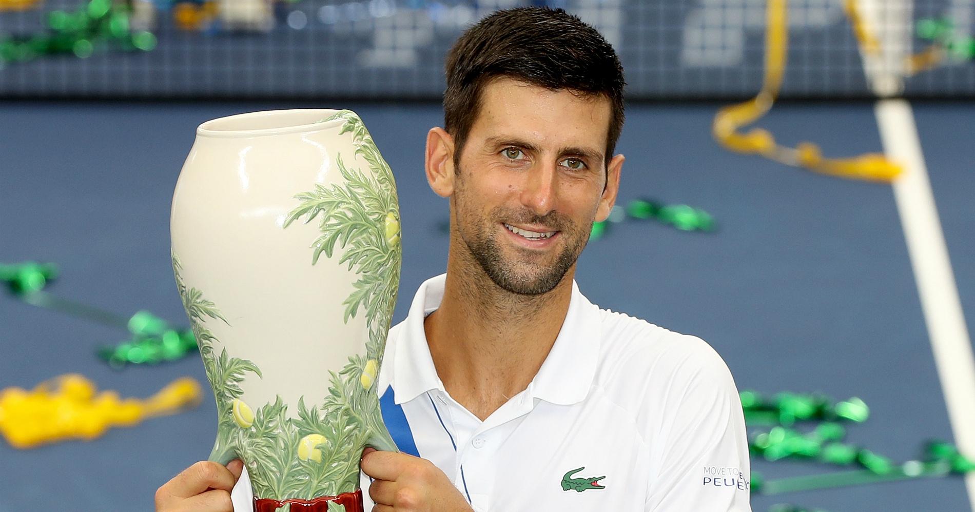 Novak Djokovic Western and Southern Open champion, 2020