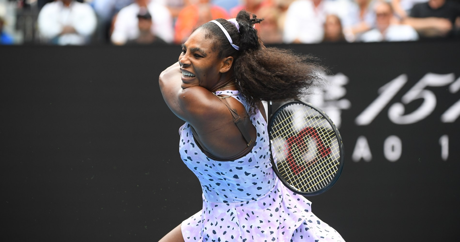 Serena Williams, pendant l'Open d'Australie 2020.