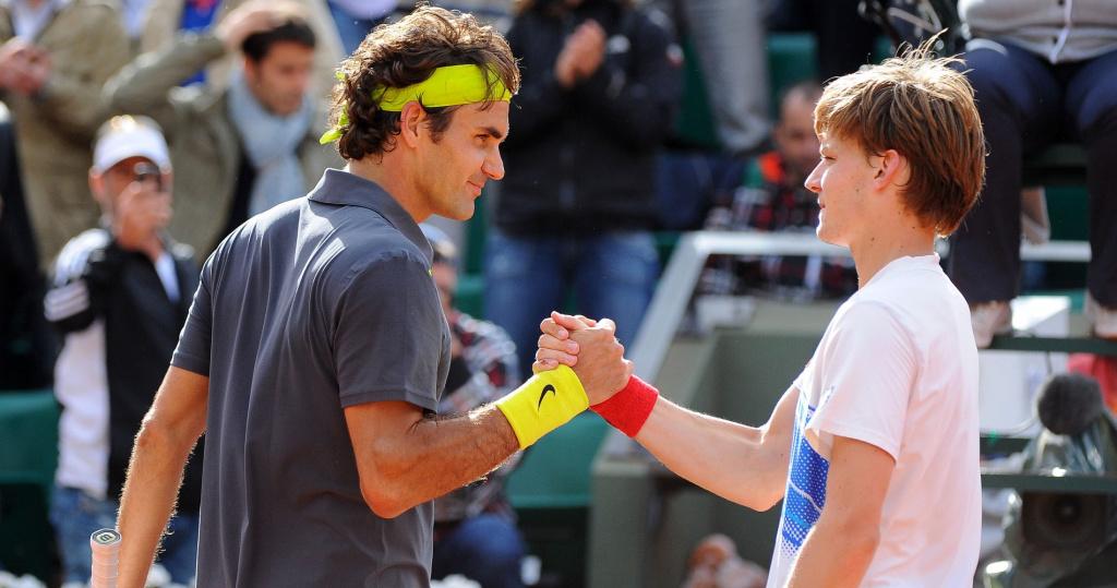 Goffin Federer Roland Garros 2012
