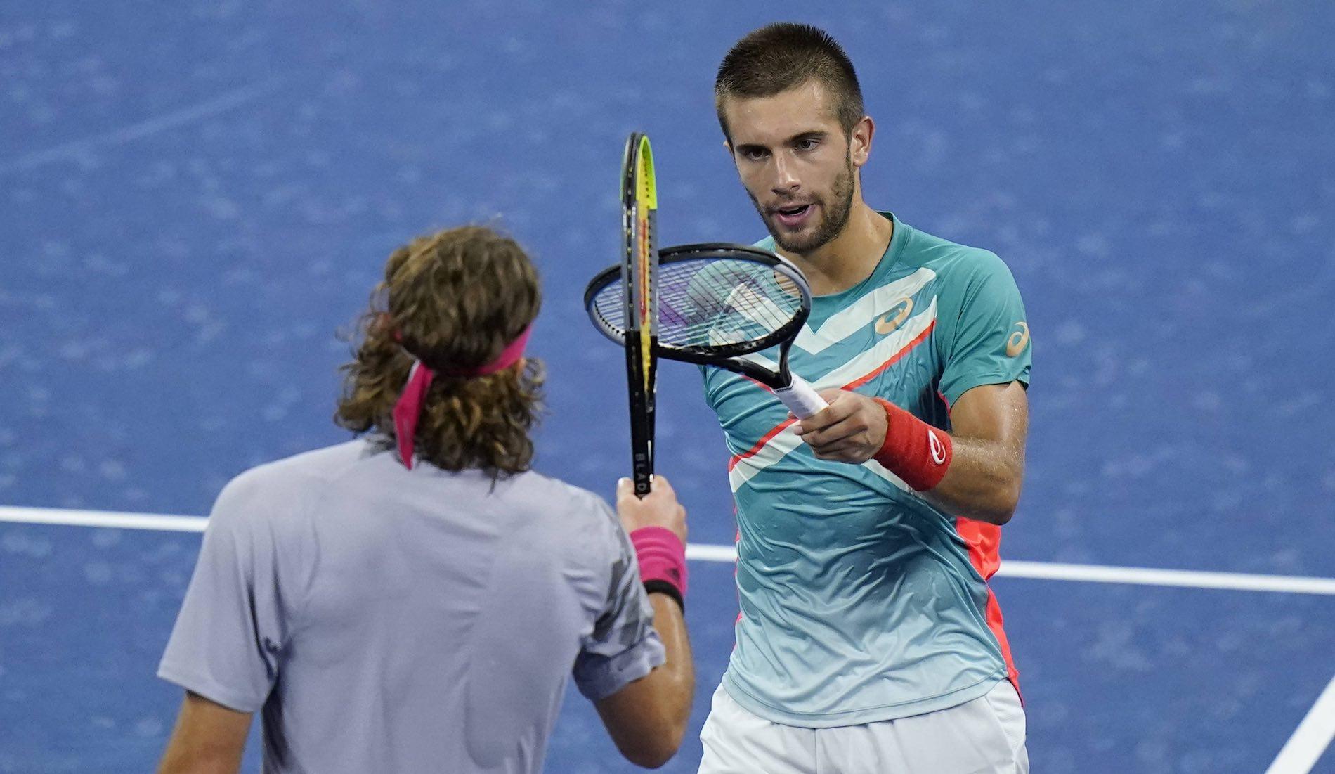 Borna Coric and Stefanos Tsitsipas, US Open 2020