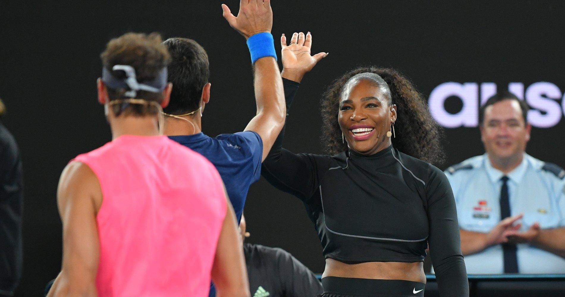 Novak Djokovic and Serena Williams, 2020 Australian Open