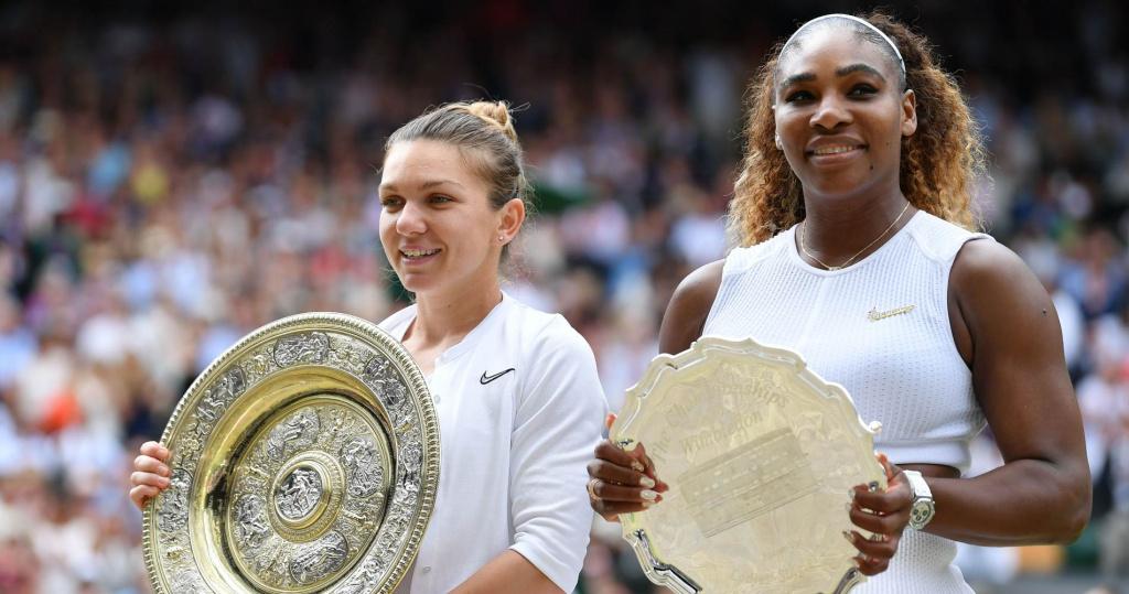 Simona Halep and Serena Williams, Wimbledon Final, 2019