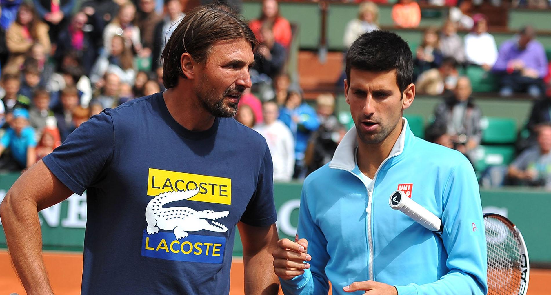 Goran Ivanisevic and Novak Djokovic at Roland-Garros in 2014