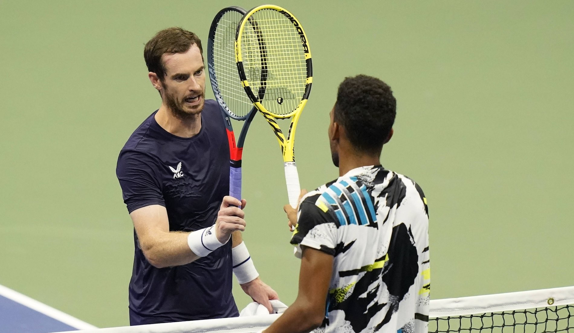 Andy Murray and Felix Auger Aliassime, US Open second round, September 2020