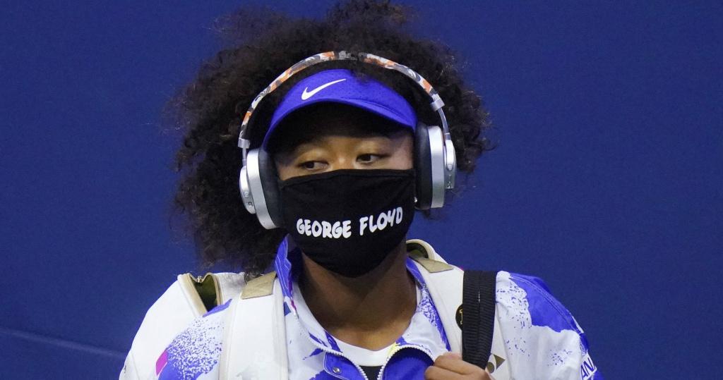 Naomi Osaka, George Floyd mask