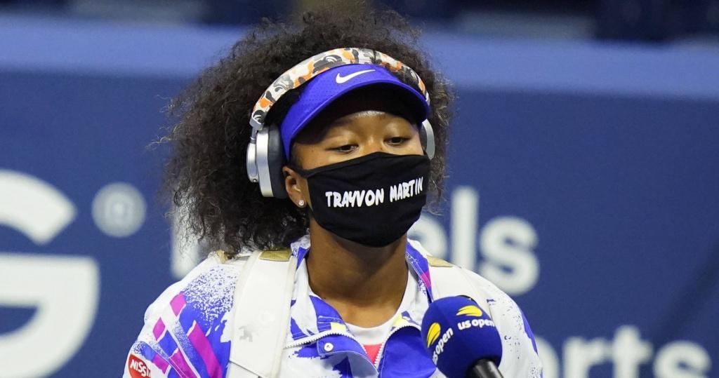 Naomi Osaka, Trayvon Martin mask