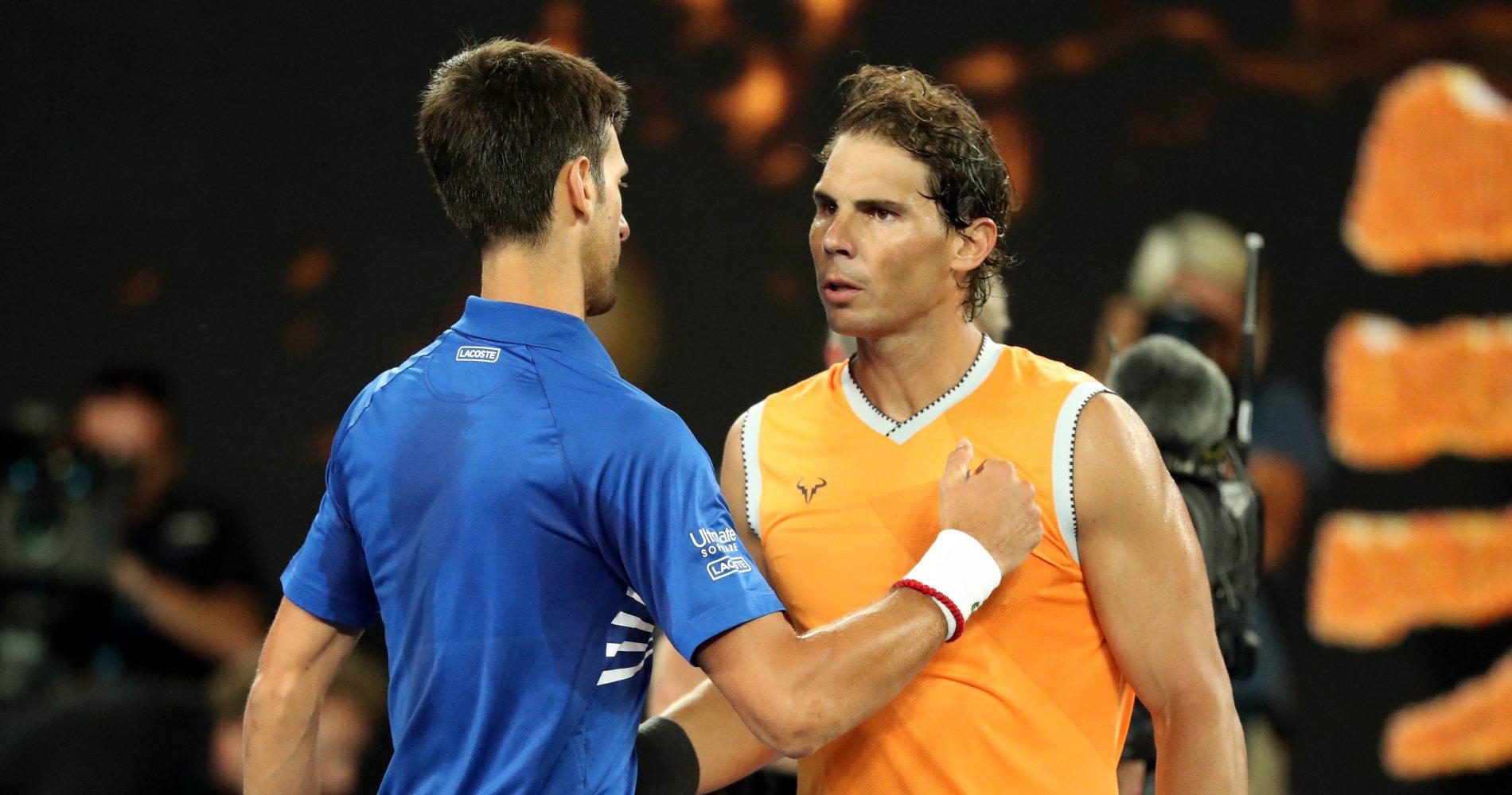 Novak Djokovic and Rafael Nadal, Australian Open 2019