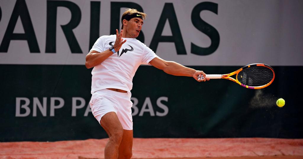 Rafael Nadal practice