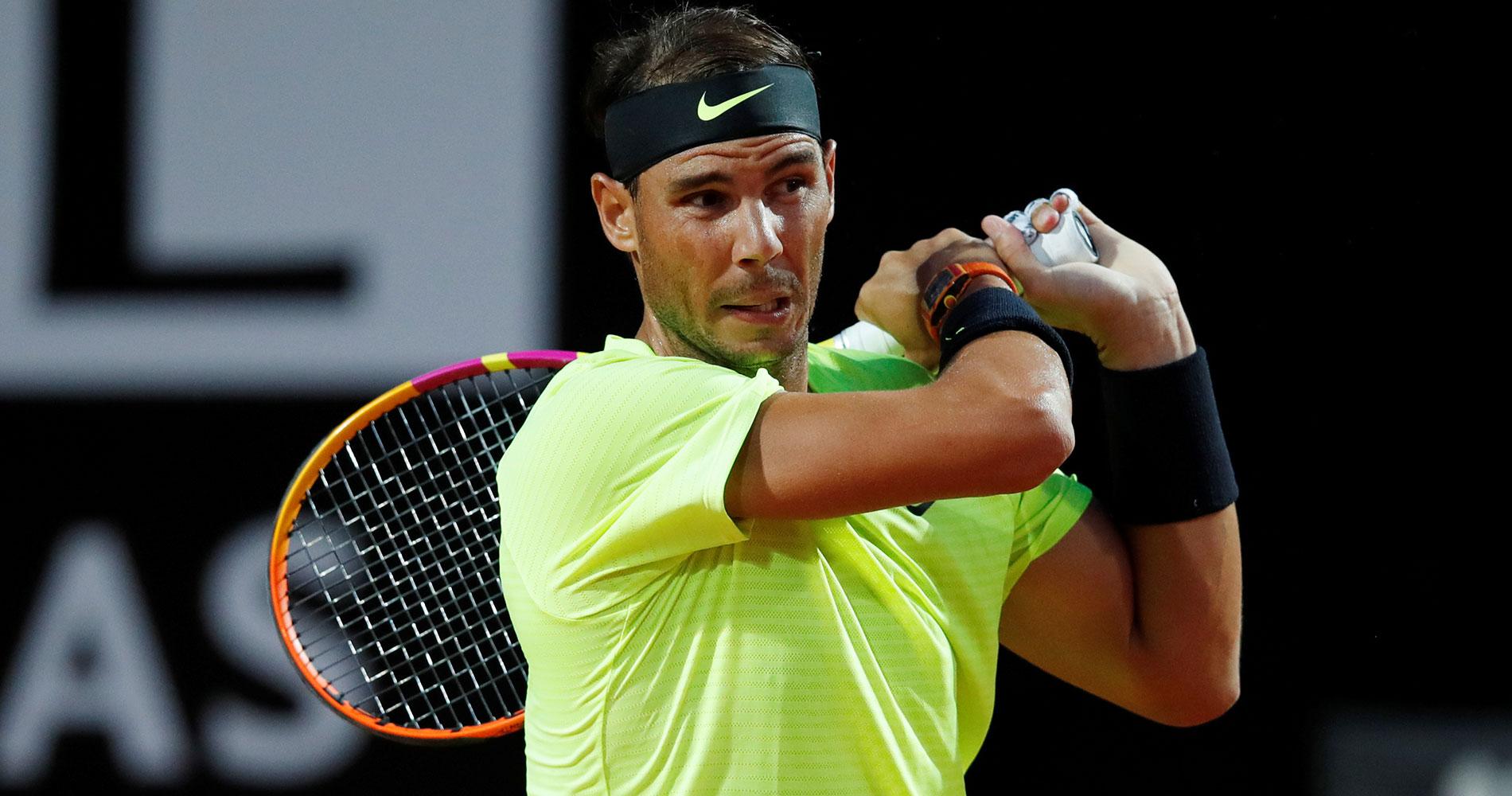 Rafael Nadal at Rome 2020