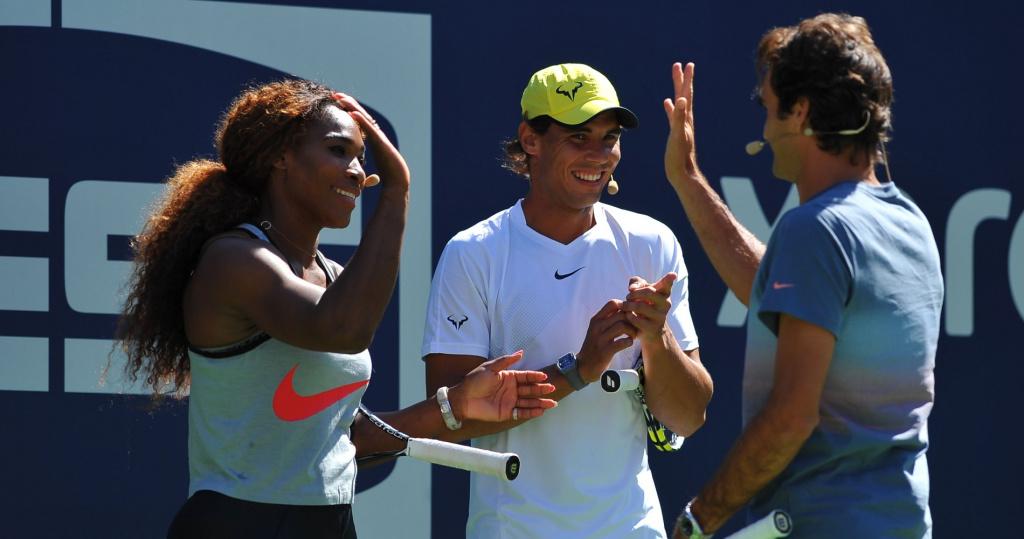 Serena Wlliams, Rafael Nadal and Roger Federer, US Open, 2013