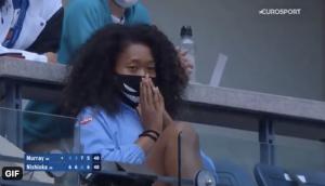 Osaka watching Murray