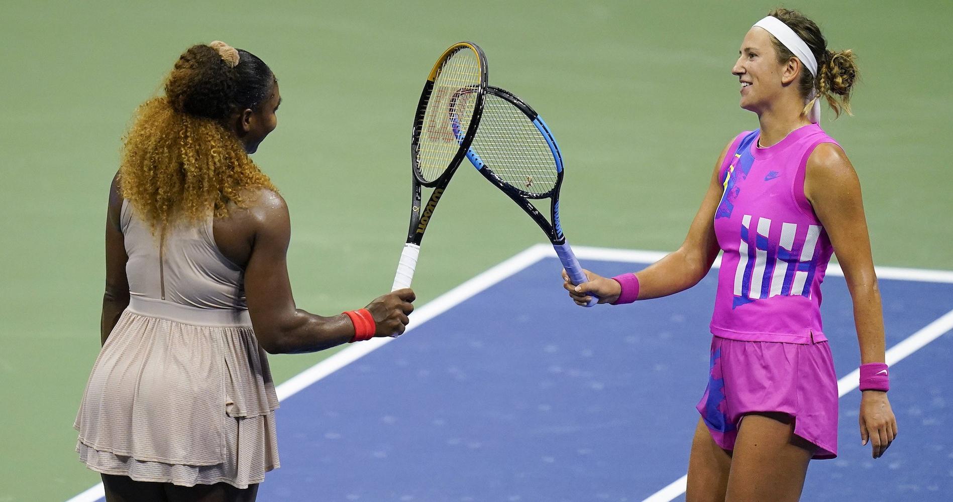 Serena Williams and Victoria Azarenka, US Open semi-final, september 2020
