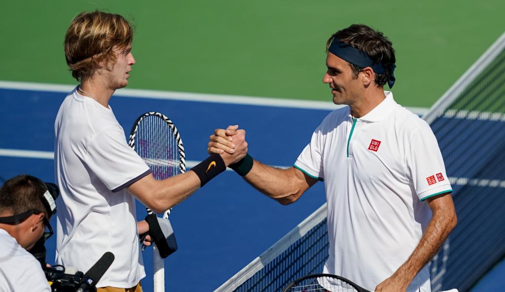 Andrey Rublev et Roger Federer - Cincinnati 2019