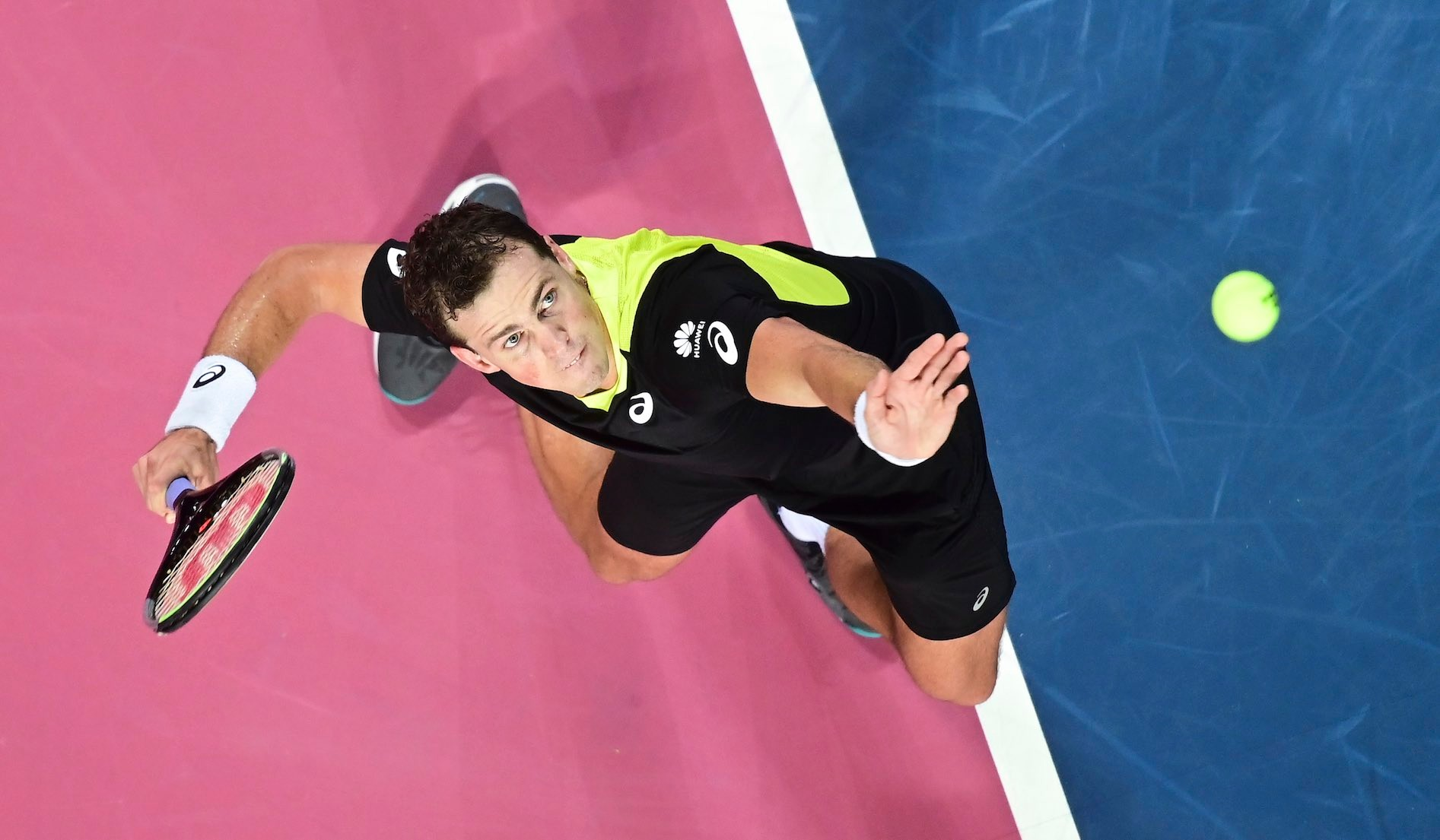 Vasek Pospisil on the ATP Tour, service, 2020