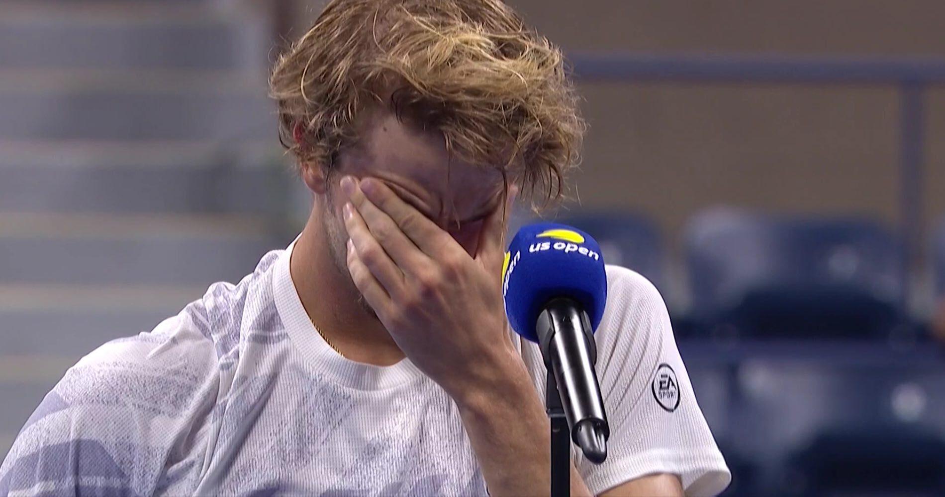 Alexander Zverev US Open tears