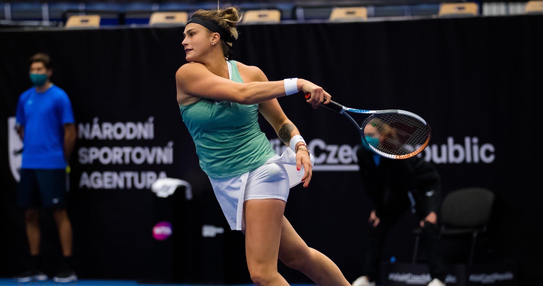 Aryna Sabalenka, Ostrava final, oct. 2020