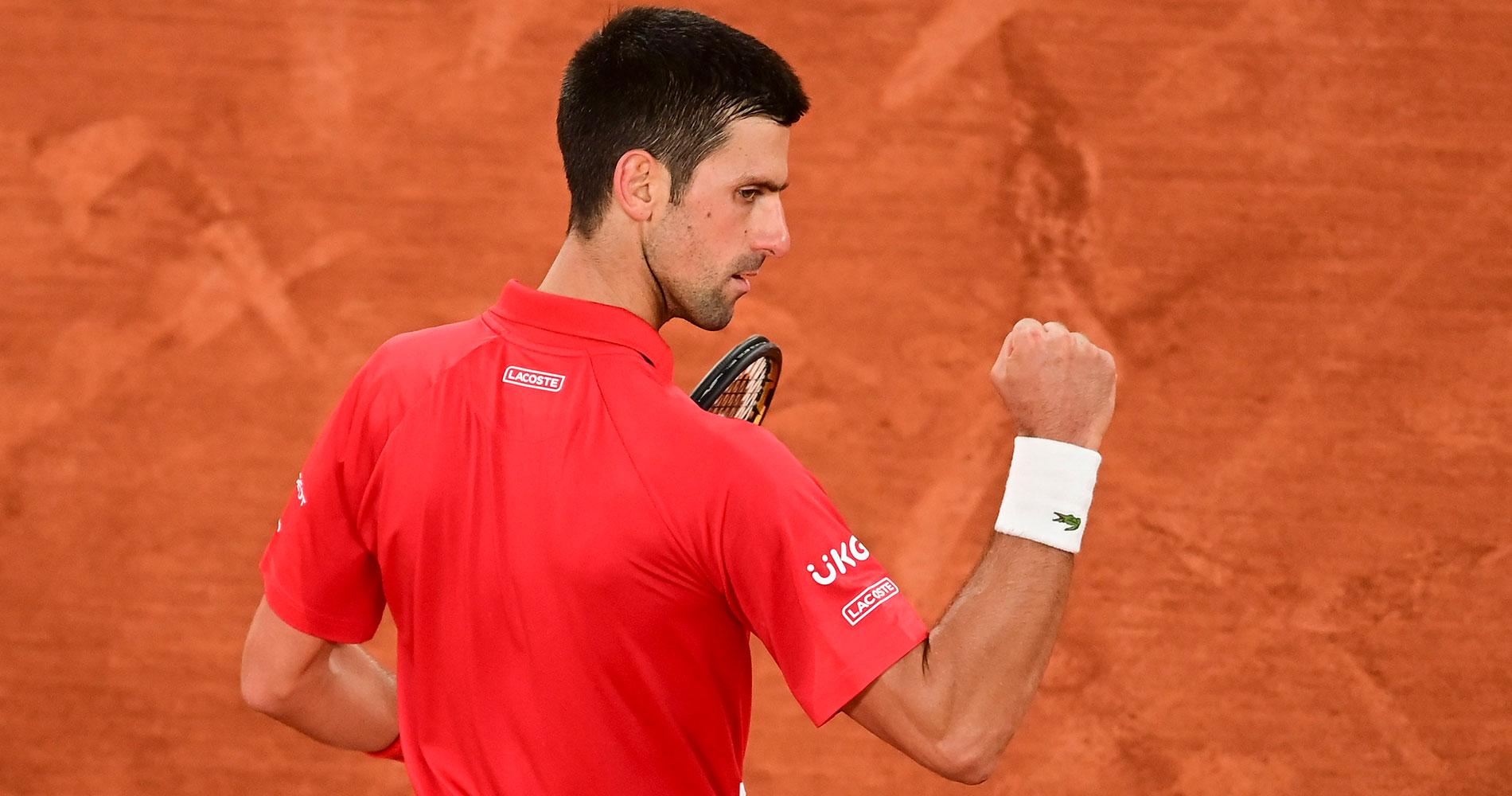 Novak Djokovic at Roland-Garros 2020 round 4