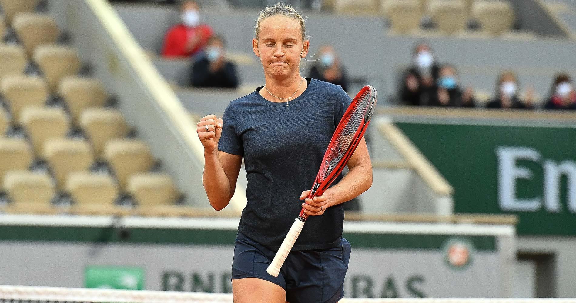 Fiona Ferro at Roland-Garros 2020 round 3
