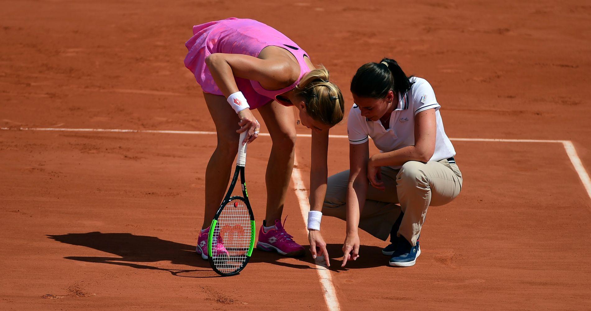 Juge de ligne - Petra Martic - 1st round Roland-Garros 2017