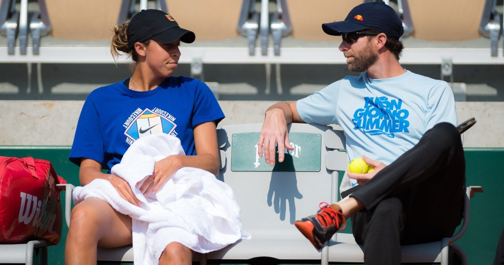 Madison Keys and her coach, Roland-Garros, 2019